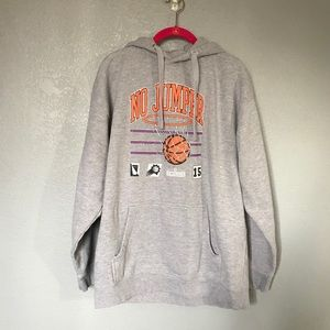 EUC No Jumper Swish Grey Pullover Hoodie Sweater